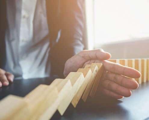 businessman using risk management concept