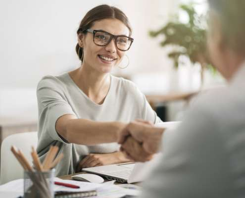 Interview after background check with the help of a background check provider