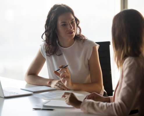 Background Screening Service during an interview